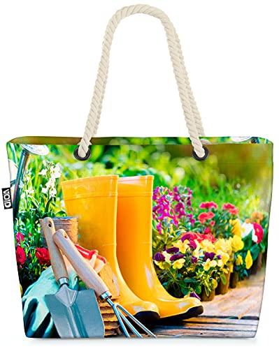 VOID Garten Werkzeug Blumen Strandtasche Shopper 58x38x16cm 23L XXL Einkaufstasche Tasche Reisetasche Beach Bag