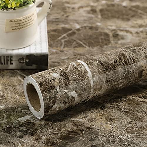 Papel Adhesivo para Muebles Mármol 40 cm X 300 cm Papel Pintado Autoadhesivo Película de vinilo de granito Pegatina para muebles Extraíble Impermeable para cubrir, encimeras de cocina, Mesa de pared