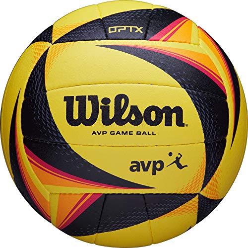 Wilson Volleyball OPTX AVP GAME BALL, Beach-Volleyball, Offizielle Größe, gelb/schwarz, WTH00020XB