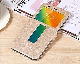 """Flip Cases - Flip Cover for for Lenovo K5 Play L38011 Case Flip Leather Phone Case for for Lenovo K5 Play K320t 5.7"""" Back Cover Funda (Gold)"""