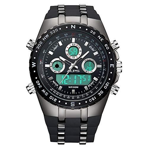 montre pour homme bracelet sport quartz mode chronographe etanche belle classique marque digitale en bois