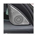 XHSM Interior 2pcs Car Door Audio Speaker Decorative Cover Trim Sticker Accessories For