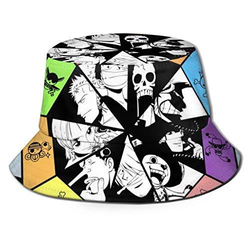 Volver al Polvo Sombrero de Pescador de Anime de una Pieza Sombreros de Pescador Sombreros de Cubo de Doble Cara Impresos Moda de Verano Protector Solar Visera Plegable Gorra Deportiva -94