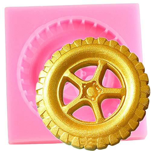 JLZK Moldes De Silicona para Neumáticos Decoración para Cupcakes Molde para Fondant Herramientas para Decorar Pasteles Moldes De Arcilla Polimérica para Caramelo De Chocolate