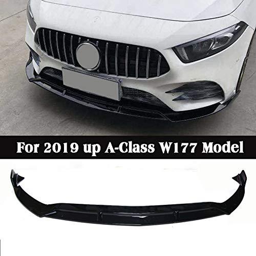 LSYBB 3Pcs ABS Hecklippe Body Kit Spoiler Frontstoßstange Diffusor-Schutz für Mercedes-Benz W177 A200 A180 250 2019-2020