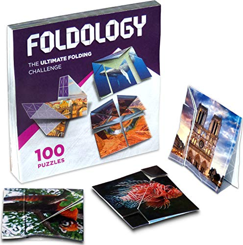 Foldology - Origami Puzzle Game | Hands-On Brain Teasers for Kids, Teens & Adults | 100 Challenges