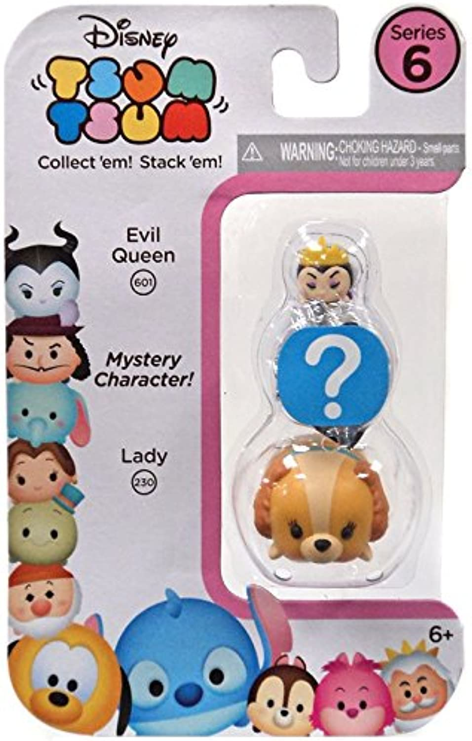Disney Tsum Tsum Series 6  3Pack Figures  Evil Queen Mystery Lady