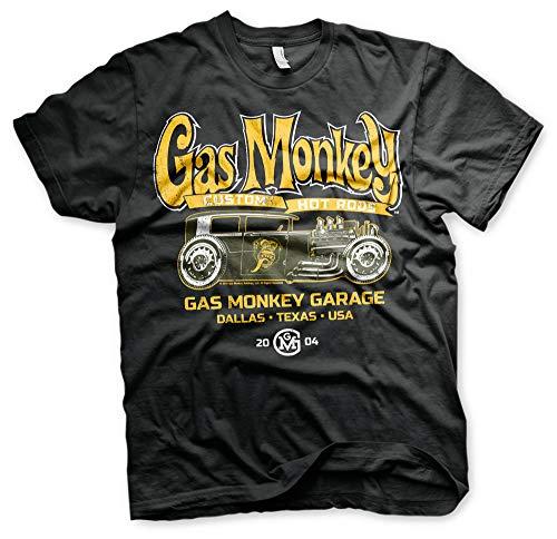 Gas Monkey Garage personalizzato Hot Rods Fast N forte nero Mens t-shirt Nero L