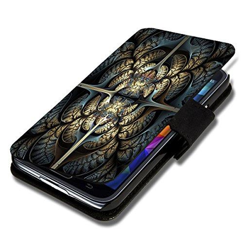 wicostar Book Style Flip Handy Tasche Hülle Schutz Hülle Schale Motiv Etui für Wiko Ridge Fab 4G - Flip 1A50 Design2