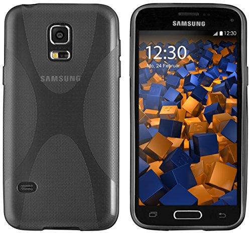 mumbi Custodia in X-TPU Compatibile con Samsung Galaxy S5/S5 Neo, Chiaro Nero