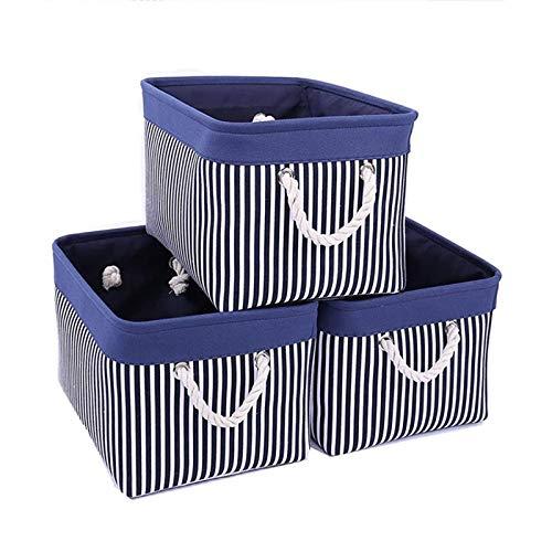 Swadal 3 cestas de almacenamiento, estilo de costura, juguetes, cestas de almacenamiento, plegables, para uso diario, ropa, organizador, almacenamiento, 41 x 31 x 21 cm