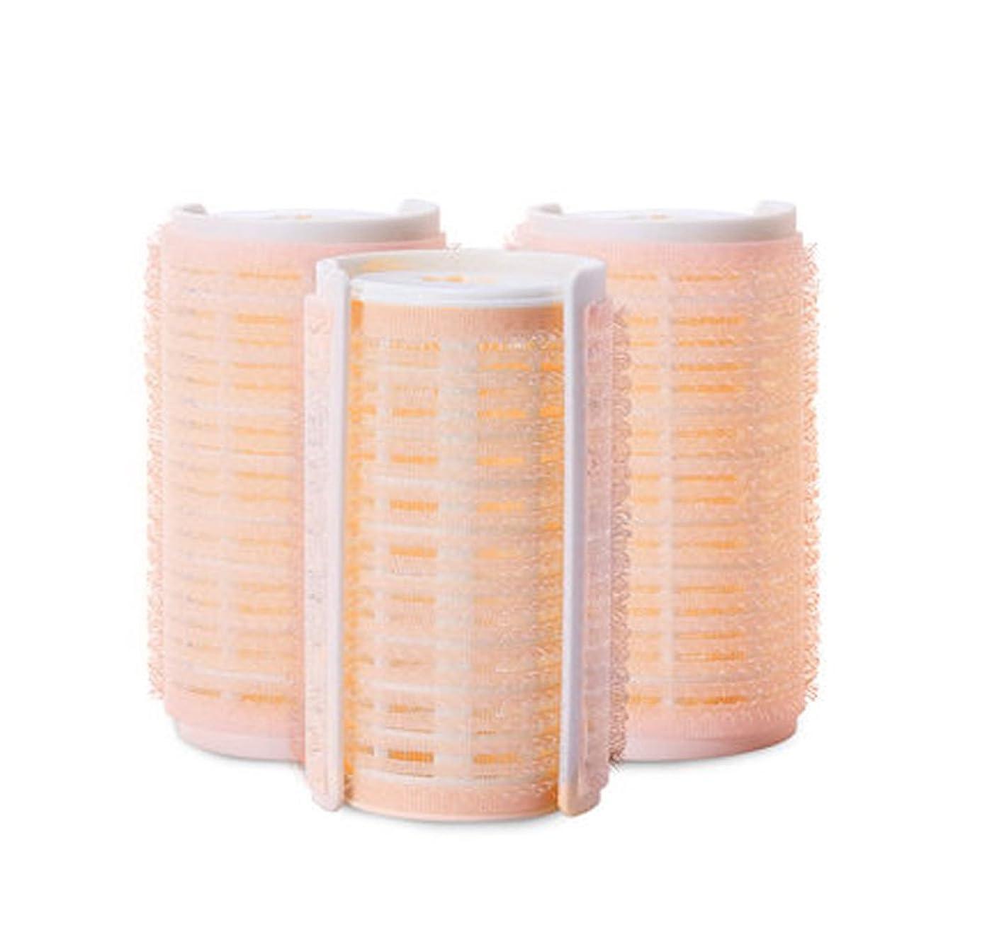 排出怠寝具プラスチック製のDIYグリップ粘着ヘアローラーカーラーヘアドレス、3ピース-W1