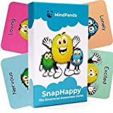 MindPanda SnapHappy 2 in 1 Therapy Card Game for Kids - Teach Mindfulness & Emotional Awareness - Hilariously Funny Family Game - Meaningful Conversation Starters - Connect Deeper