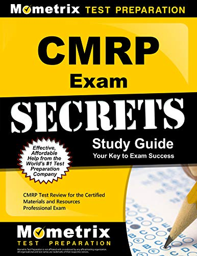 Download Cmrp Exam Secrets: CMRP Test Review for the Certified Materials & Resources Professional Examination 1609714253