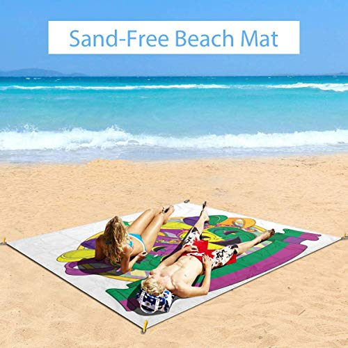 Affordable Large Waterproof Outdoor Picnic Blanket, Traditional Mardi Gras Comedy and Tragedy Masks ...