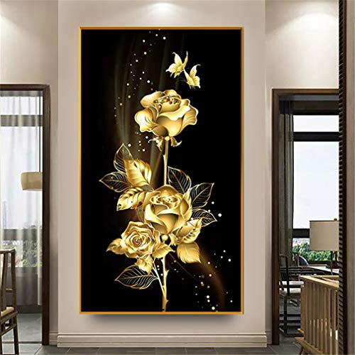RAILONCH DIY Diamond Painting 5D Diamant Painting Set Full Drill Stickerei Groß Bilder Diamonds Malerei für Home Wand Dekor (60X110cm)