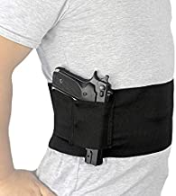 Depring Belly Band Holster for Concealed Carry Elastic Abdominal Slim Wrap Concealment Handgun Holster with 2 Magazine Pouches for Right and Left Hand Draw