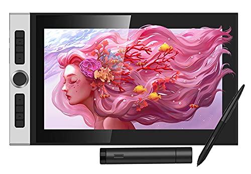 Xyfw Tableta Gráfica De 15,6 Pulgadas Pantalla Gráfica Monitor De Tablero De Dibujo 88% NTSC con Un Lápiz Óptico Sin Batería Inclinación