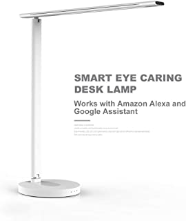 Eye-caring Table Lamps 4 Color Temperature Modes by Dimmable Lamp with 5V//1A USB Charging Port Office Desk Lamp Geelky LED Desk Lamp with Qi Wireless Charger Porcelain White Touch