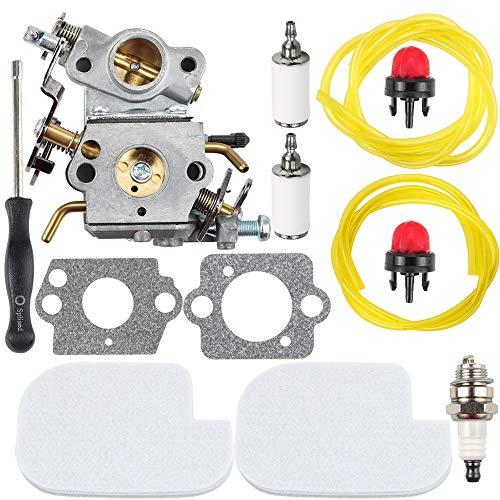 Dalom C1M-W26C Carburetor + Carb Adjustment Tool + Air Fuel Filter Tune Up Kit for Poulan Pro P3314 P3416 P3816 P3818 P4018 PPB4218 S1970 Gas Chainsaw Craftsman 545040701 545070601