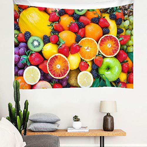 JMHomeDecor Tapiz Impresión 3D Frutas Coloridas Frescas Funda De Cama Portátil Ligera Colgante De Pared Multifunción 260 (H) X300 (W) Cm