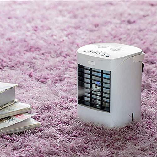 CHUTD Mini acondicionador de Aire Enfriador de Aire evaporativo portátil, Ventilador de Torre oscilante Espacio Personal Ultra portátil Ventilador de refrigerador ecológico hogar