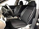 seatcovers by k-maniac Fundas de Asiento para Mercedes Clase E W210, universales, Color Blanco y Negro, V1305651