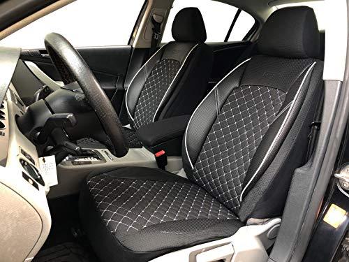 Sitzbezüge K-Maniac für Opel Astra K Sports Tourer | Universal schwarz-Weiss | Autositzbezüge Set Vordersitze | Autozubehör Innenraum | V1305704 | Kfz Tuning | Sitzbezug | Sitzschoner