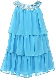 Girls Triple Tiered Chiffon Dress
