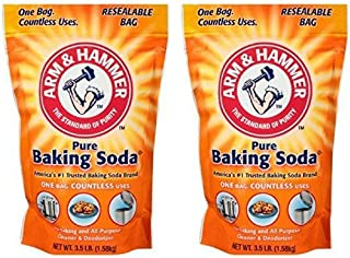 Arm & Hammer, Pure Baking Soda 3.5 lb. Stand-Up Bag (Pack of 2)