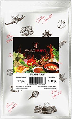 Salami Italia Gewürzzubereitung, Salamigewürz. Für schnittfeste rohgereifte Dauerwurstsorten. Beutel: 1000g. (1KG)
