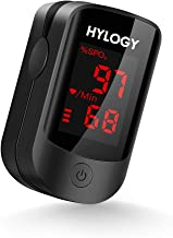 HYLOGY Oxímetro de Pulso, Pulsioximetro de Dedo Profesional saturacion oxigeno oxímetro con pantalla OLED (negro)