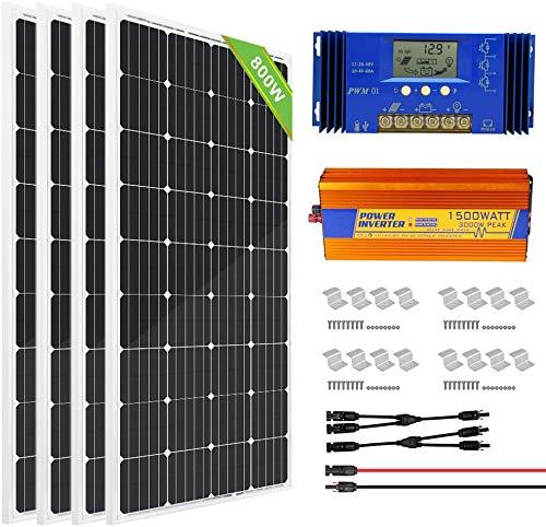 ECO-WORTHY 800W 24V Solar Panel Off Grid...