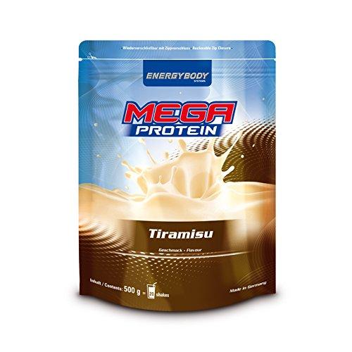 Energybody Mega Protein, Tiramisu, 1er Pack (1 x 500 g Beutel)