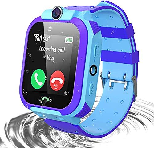 Smart Children's Smart Watch para niños y niñas, Reloj Inteligente para niños Seguimiento de Libras LBS con cámara, Linterna, Pantalla táctil