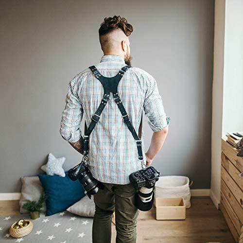 Dual DSLR Strap Photographer Straps Dual DSLR Harness Double Cameras Harness Dual Cameras Strap Two Cameras Harness Two Cameras Strap