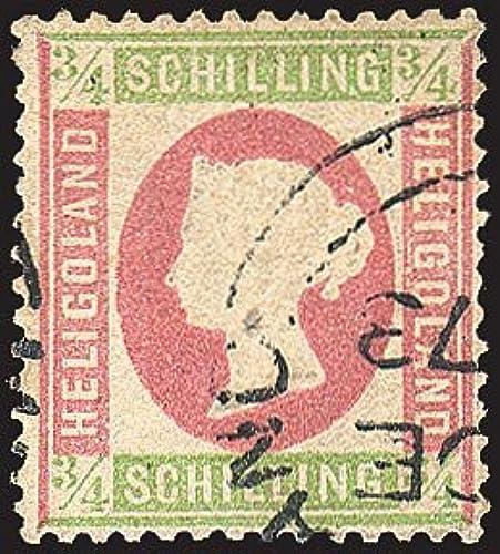 Goldhahn Helgoland Nr. 9 gestempelt Briefmarken für Sammler