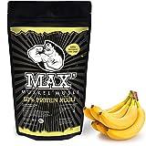MAX MUSKEL MÜSLI Protein Müsli Low Carb ohne Zucker-Zusatz & Nüsse - Müsli wenig Kohlenhydrate viel Eiweiss Sportlernahrung für Muskelaufbau & Abnehmen 500g Beutel (Banane)