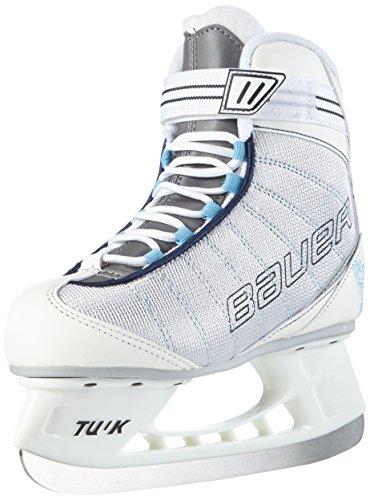 BAUER - Damen Schlittschuhe Flow Rec Ice I hochwertige Schlittschuhe mit Edelstahlkufe I Knöchelpolsterung I bequeme Eishockey-Schlittschuhe I ideal für Einsteigerinnen I Gefüttert - Weiß
