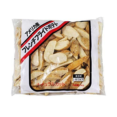 冷凍野菜 フレンチフライドポテト(ナチュラルカット) 神栄 1kg アメリカ産 じゃがいも