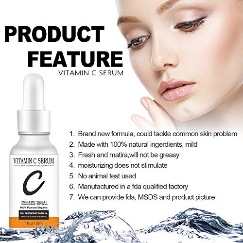 51+pSyqUVGL - Vanecl Vitamin C Serum for Face,Plus Super Serum 20% With Hyaluronic,Acid Anti Aging Anti-Wrinkle Facial Serum Intense Hydration + Moisture, Non-greasy, Paraben-free-Best Hyaluronic Acid