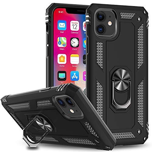 LeYi Hülle für iPhone 11 (6.1) Handyhülle mit Panzerglas Schutzfolie(2 Stück),360 Grad Cover Bumper Schutzhülle für Hülle Apple iPhone 11 / iPhone XI Handy Hüllen Schwarz