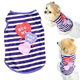 Mosunx(TM) Fashion Pet Puppy Summer Shirt Small Dog Cat Pet Clothes Stripe Vest T Shirt (XS) by Mosunx