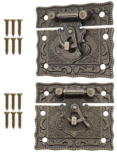 FUXXER® - 2 cierres antiguos, ganchos, candado, diseño de