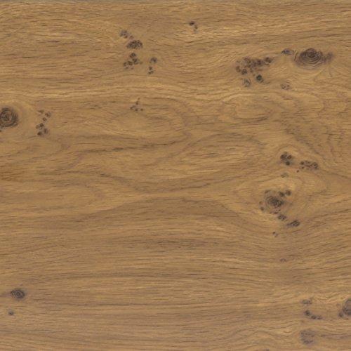 Klebefolie Perfect Fix® Eiche Astig, Holzfolie, Dekofolie, Möbelfolie, Tapeten, selbstklebende Folie, PVC, ohne Phthalate, keine Luftblasen, Natur-Holzoptik, 45cm x 2m, Stärke: 0,15 mm, Venilia 53334