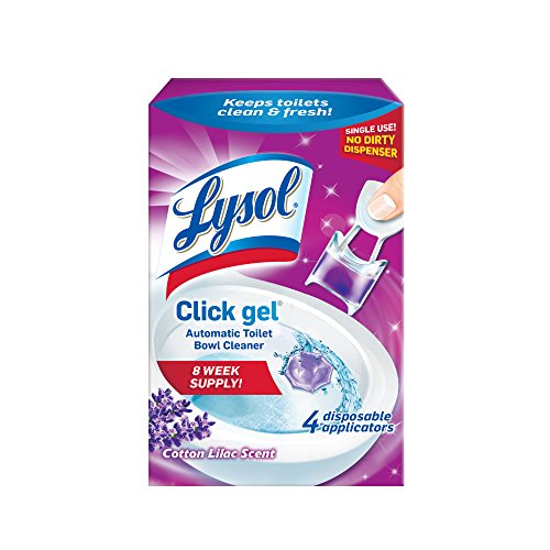 Lysol Click Gel Automatic Toilet Bowl Cleaner, Lavender, 4ct