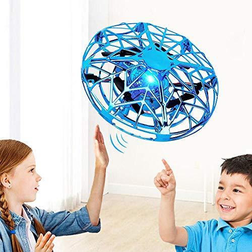 Nasharia UFO Mini Drohne, UFO Flying Ball UFO Fliegendes Spielzeug Handgesteuerter RC Drone Infrarot Induktions Untertasse Drohne mit 360°Rotierenden und LED Spielzeug Geschenke für Jungen Mädchen