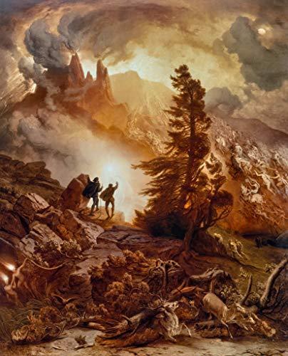 Kunstdruck/Poster: Albert Zimmermann Walpurgisnacht Aus Goethes Faust - hochwertiger Druck, Bild, Kunstposter, 40x50 cm