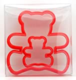 Teddy Bear Cookie Cutter Set of 2, Biscuit, Pastry, Fondant Cutter