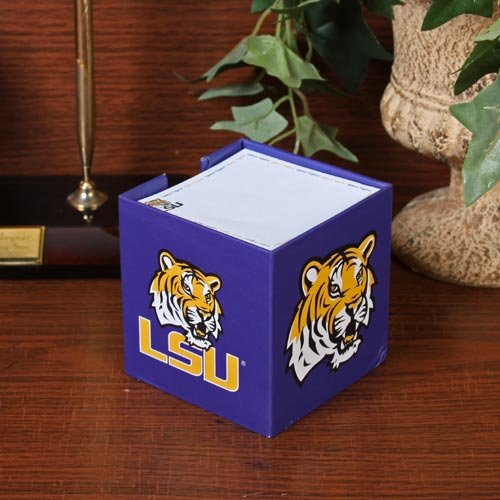 NCAA LSU Tigers 800-Page Note Cube Holder